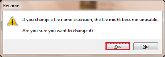 confirm file extension