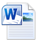 Microsoft Word Open XML Document Icon