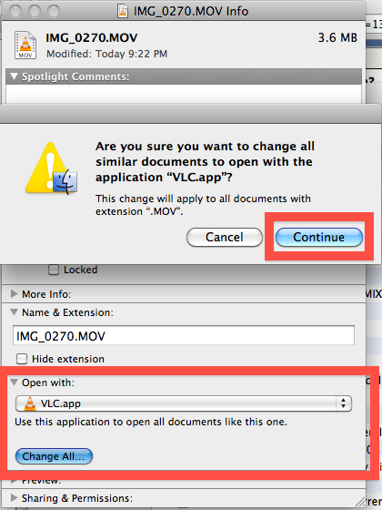 Change the default program to open files on Mac
